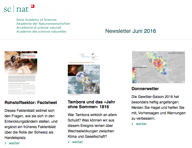 160610 SCNAT Newsletter Juni2016